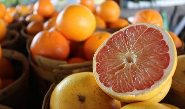 Acidic and citrus food